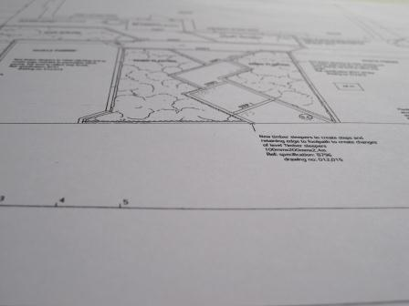 Shows our garden planning sheet